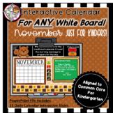 Interactive Calendar for Kindergarten -November - Works wi