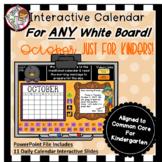 Interactive Calendar for Kindergarten -October - Works wit