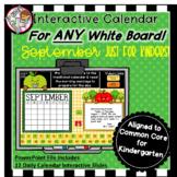 Interactive Calendar for Kindergarten -September - Works w