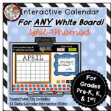 Interactive Calendar for Pre-K, K, 1st - April- Works on A