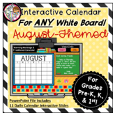 Interactive Calendar for Pre-K, K, 1st - August - Works on