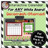 Interactive Calendar for Pre-K, K, 1st - December - Works