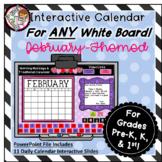 Interactive Calendar for Pre-K, K, 1st - February - Works