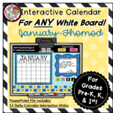 Interactive Calendar for Pre-K, K, 1st - January - Works o
