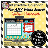 Interactive Calendar for Pre-K, K, 1st - July- Works on AN