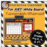 Interactive Calendar for Pre-K, K, 1st - November - Works