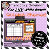 Interactive Calendar for Pre-K, K, 1st - October - Works o