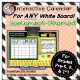 Interactive Calendar for Pre-K, K, 1st - September - Works