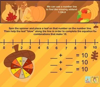 Interactive Calendar for SMART Board FIRST GRADE November-Themed