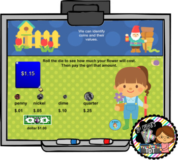Interactive Calendar for SMART Board Kindergarten May-Themed