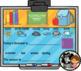 Interactive Calendar for SMART Board Kindergarten August-Themed