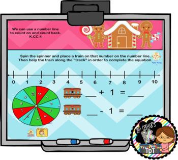 Interactive Calendar for SMART Board Kindergarten December (Gingerbread) -Themed