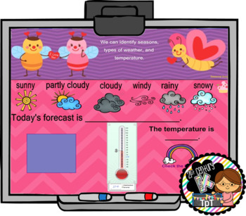 Interactive Calendar for SMART Board Kindergarten  February-Themed
