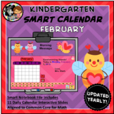Interactive Calendar for SMART Board Kindergarten  Februar