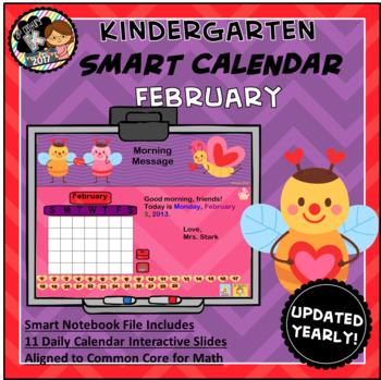 Interactive Calendar for SMART Board Kindergarten  Februar