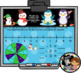 Interactive Calendar for SMART Board Kindergarten January-Themed