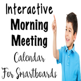 Interactive Calendar for Smart boards - Morning Meeting
