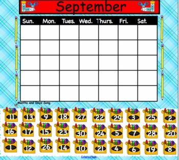 Interactive Calendar with Mixed-up Numbers