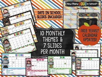Interactive Calendars & Math Meetings for PowerPoint {Entire Year Bundle!}