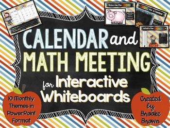 Interactive Calendars & Math Meetings for PowerPoint {Enti