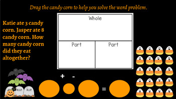 Interactive Candy Corn Part-Part-Whole Word Problems: Google Classroom