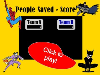 Interactive Cartoon Superheroes and Villains PowerPoint Game