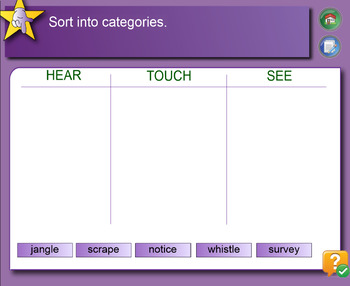 Interactive Catergorising Activity to Build Vocabulary for IWB