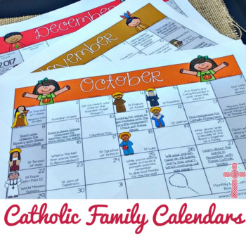Catholic Calendars - Monthly Printables to Help You Live the Liturgical Year