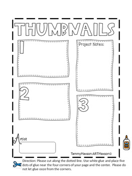 Interactive Ceramic Sketchbook: Thumbnail Page