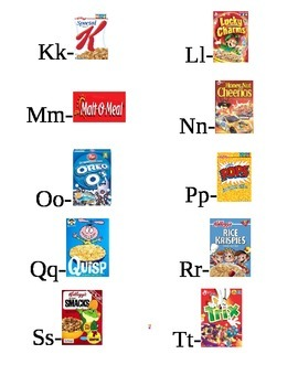 Interactive Cereal Math plus A-Z Cereal Flash Cards