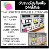 Interactive Character Analysis Posters-100 Character Traits With Organizers