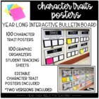 Interactive Character Analysis Posters {50 Character Traits With Organizers}