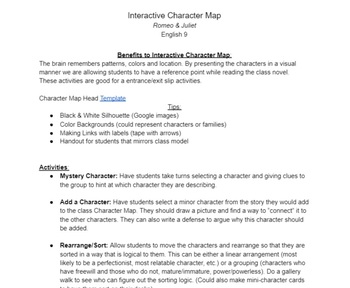 Interactive Character Map