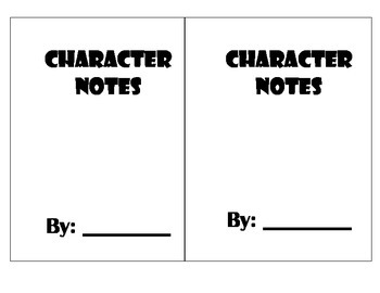Interactive Character Notebook