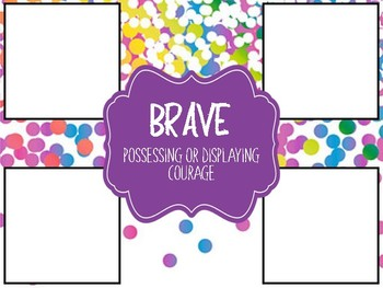 Interactive Character Trait Analysis Posters (Colorful Confetti) 74 Traits