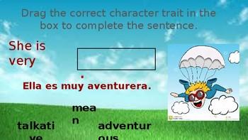 Interactive Character Traits Activities