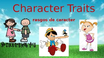Interactive Character Traits Activities- (English/Spanish)