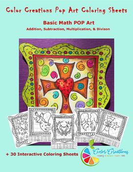 Interactive Christian Coloring Sheets + Basic Math Pop Art