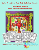 Interactive Christian Coloring Sheets + Basic Math Pop Art