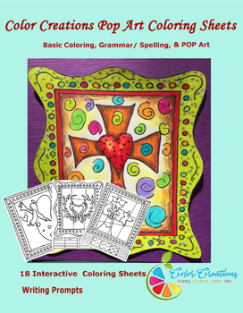 Interactive Christian Coloring Sheets + Writing prompts +Create Your Own Lesson