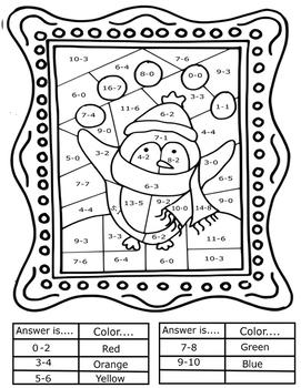 Interactive Christmas Coloring Sheets + Basic Math Pop Art ...