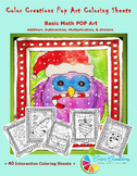 Interactive Christmas Coloring Sheets + Basic Math Pop Art