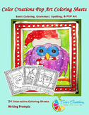 Interactive Christmas Coloring Sheets + Writing prompts +C