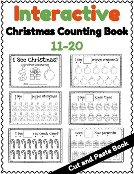 Interactive Christmas Counting Book 11-20, Cut and Paste