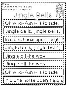 Christmas Songs Fluency and Writing Prompts