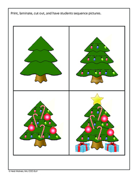 Interactive Christmas Tree Building Song and Activities
