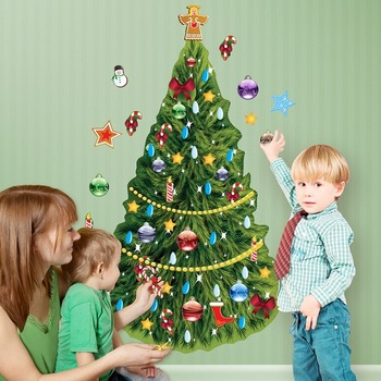 Interactive Christmas Tree Wall Play Set