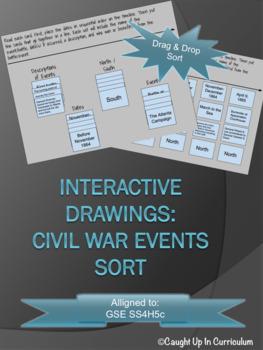 Interactive Civil War Events Sort GSE SS4H5c