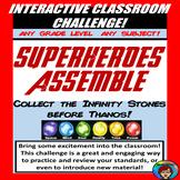 Interactive Classroom Challenge, Room Transformation, Superhero Review, Reading