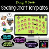 Interactive Classroom Seating Chart Templates    Flexible